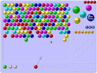 screenshot of Bubble Shooter game