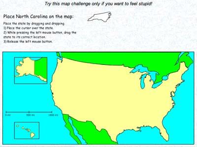 Screenshot of Map Challenge Game