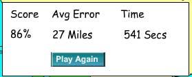 Screenshot of my score: 86%
