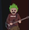 Screenshot of Punk-O-Matic character, grimacing!